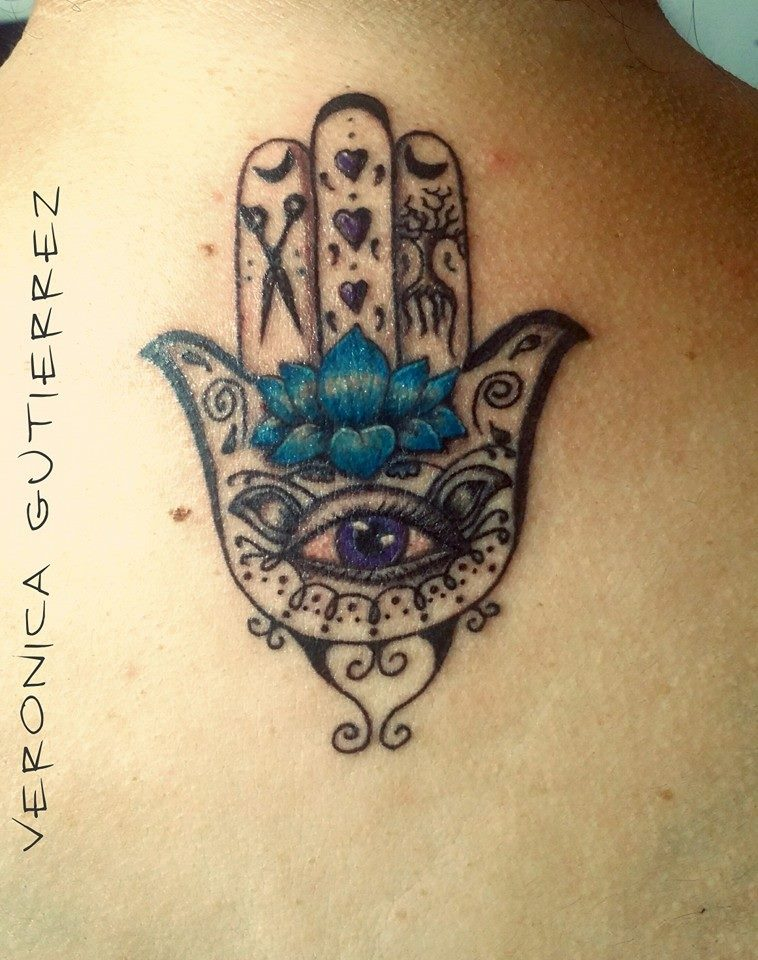 Hamsa hand tattoo completed vg designs for Healing hand tattoo